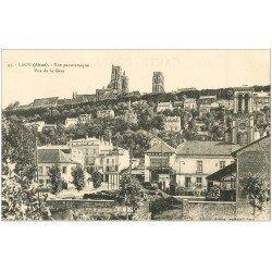 carte postale ancienne 02 LAON. Panorama vu de la Gare