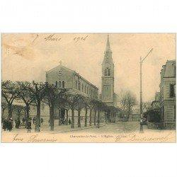 carte postale ancienne 94 CHARENTON LE PONT. L'Eglise 1904. timbre manquant verso