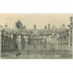 carte postale ancienne 94 BOISSY SAINT LEGER. Gros Bois Château du Prince de Wagram Grille honneur