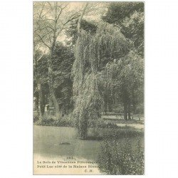 carte postale ancienne 94 BOIS DE VINCENNES. Petit Lac Maison Blanche