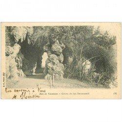 carte postale ancienne 94 BOIS DE VINCENNES. Grotte du Lac Daumesnil 1904