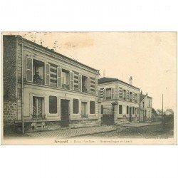 carte postale ancienne 94 ARCUEIL. Deux Pavillons Heimerdinger et Lurck 1904