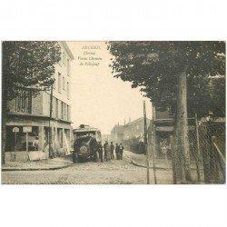 carte postale ancienne 94 ARCUEIL. Autobus Bus ancien sur Vieux Chemin de Villejuif