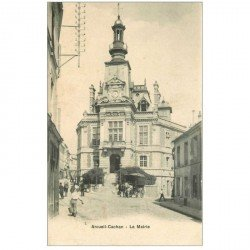carte postale ancienne 94 ARCUEIL CACHAN. La Mairie 1932