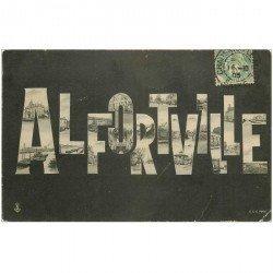 carte postale ancienne 94 ALFORVILLE. Multivue fantaisie 1905. Minuscule pli coin droit