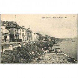 carte postale ancienne 94 ABLON SUR SEINE. Lavandières sur bords de Seine et Café au Rendez Vous des Pêcheurs