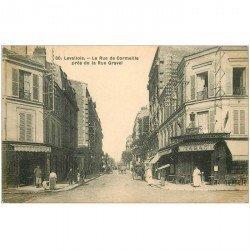 carte postale ancienne 92 LEVALLOIS PERRET. Tabac rue de Cormeille 1910