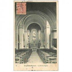 carte postale ancienne 92 LEVALLOIS PERRET. Nef de l'Eglise 1906