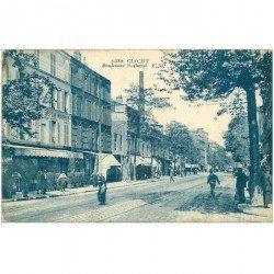 carte postale ancienne 92 CLICHY. Restaurant de la Mairie Boulevard National