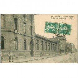 carte postale ancienne 92 CLICHY. Les Ecoles rue d'Alsace 1925