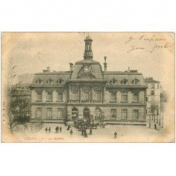 carte postale ancienne 92 CLICHY. La Mairie 1903