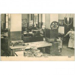 carte postale ancienne 92 CLICHY. L'Hôpital Beaujon la Cuisine Boulevard Leclerc