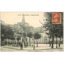 carte postale ancienne 92 CLICHY. Hôtel de Ville 1915