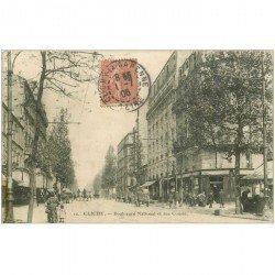 carte postale ancienne 92 CLICHY. Fruiterie Boulevard National et rue Cousin 1906