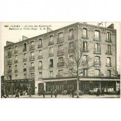 carte postale ancienne 92 CLICHY. Café du Cycle Boulevards National et Victor Hugo. Cabinet dentaire en étage