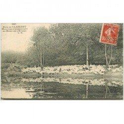 carte postale ancienne 92 CLAMART. Moutons s'abreuvant au bord de l'Etang 1918