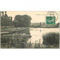 carte postale ancienne 92 CHAVILLE. Etang de Brisemiche 1909