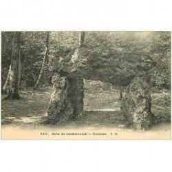 carte postale ancienne 92 CHAVILLE. Dolmen au Bois