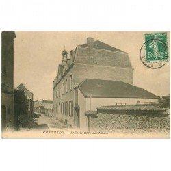 carte postale ancienne 92 CHATILLON. Ecole libre des Filles 1909