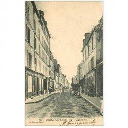 carte postale ancienne 92 BOULOGNE SUR SEINE. Rue d'Aguesseau 1904