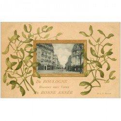 carte postale ancienne 92 BOULOGNE SUR SEINE. Rue Escudier