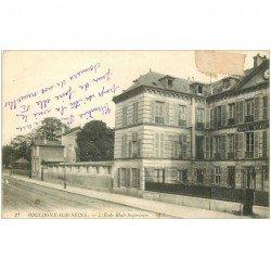 carte postale ancienne 92 BOULOGNE SUR SEINE. Ecole Réale Supérieure 1921