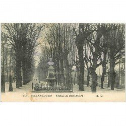 carte postale ancienne 92 BILLANCOURT. Statue de Renault