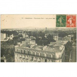 carte postale ancienne 92 ASNIERES SUR SEINE. Panorama 1917