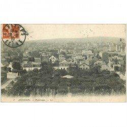 carte postale ancienne 92 ASNIERES SUR SEINE. Panorama 1911 ou 1917