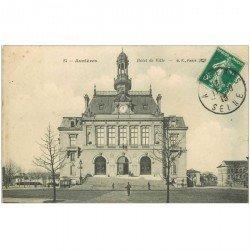 carte postale ancienne 92 ASNIERES SUR SEINE. Hôtel de Ville 1910