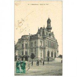 carte postale ancienne 92 ASNIERES SUR SEINE. Hôtel de Ville 1909