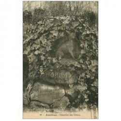 carte postale ancienne 92 ASNIERES SUR SEINE. Cimetière des Chiens. Jappy