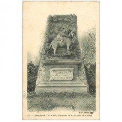 carte postale ancienne 92 ASNIERES SUR SEINE. Cimetière des Chiens. Barry 1906