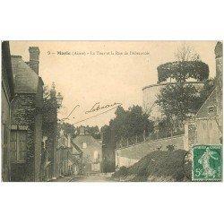 carte postale ancienne 02 MARLE. Tour rue de l'Abreuvoir 1909