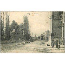 carte postale ancienne 02 MOY. Le Château et Hôtel