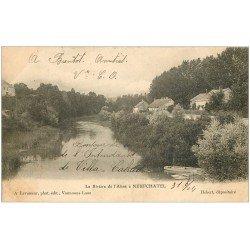 carte postale ancienne 02 NEUFCHATEL. Rivière de l'Aisne 1904
