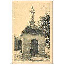 carte postale ancienne 02 NOTRE-DAME-DE-LIESSE. L'Eglise. La Fontaine Miraculeuse 1931