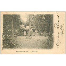carte postale ancienne 02 PINON. L'Ermitage 1902