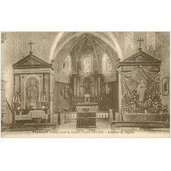 carte postale ancienne 02 PONTAVERT. Intérieur de l'Eglise 1925