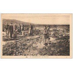carte postale ancienne 14 VILLERVILLE. La Moulière 1932. Métiers de la Mer
