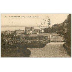 carte postale ancienne 14 VILLERVILLE. Parc du Château 1929