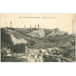 carte postale ancienne 01 Chatillon-de-Michaille. Promenade de la Tour