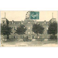 carte postale ancienne 02 SAINT-QUENTIN. Caserne de Gendarmerie