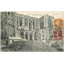 carte postale ancienne 02 SAINT-QUENTIN. La Basilique bombardée 1927