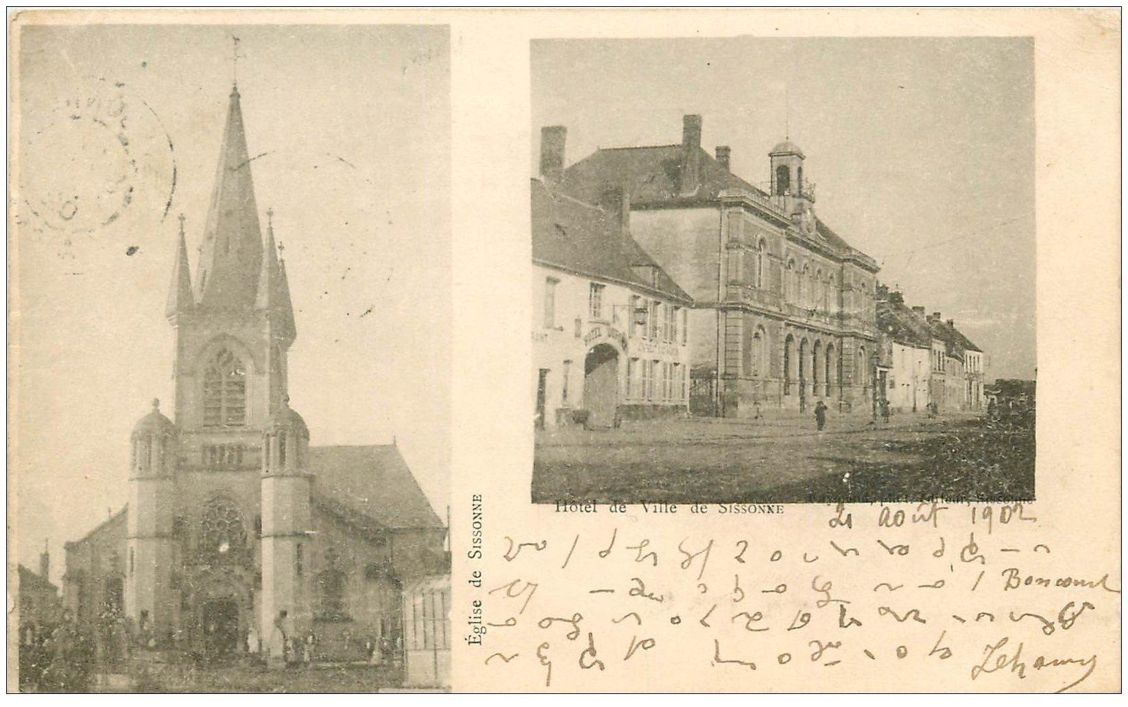 02 sissonne h tel de ville 1902 ecriture cod e for Sissonne 02