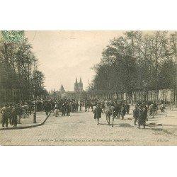carte postale ancienne 14 CAEN. Foire auc Chevaux Promenade Saint-Julien 1907