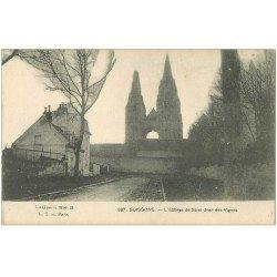 carte postale ancienne 02 SOISSONS. Abbaye Saint-Jean des Vignes 1916