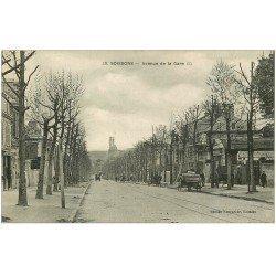 carte postale ancienne 02 SOISSONS. Avenue de la Gare