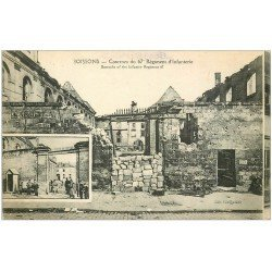 carte postale ancienne 02 SOISSONS. Caserne du 67° Régiment d'Infanterie 1919