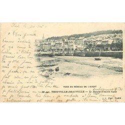carte postale ancienne 14 TROUVILLE. Bassin à Marée basse 1903. Réseau de l'Ouest